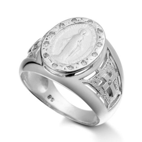 R2948900 anel nossa senhora das gracas com zirconias brancas joia folheda ouro branco rodio marca sabrina joias loja brilho folheados