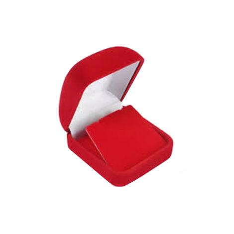 caixinha de veludo vermelha brilho folheados
