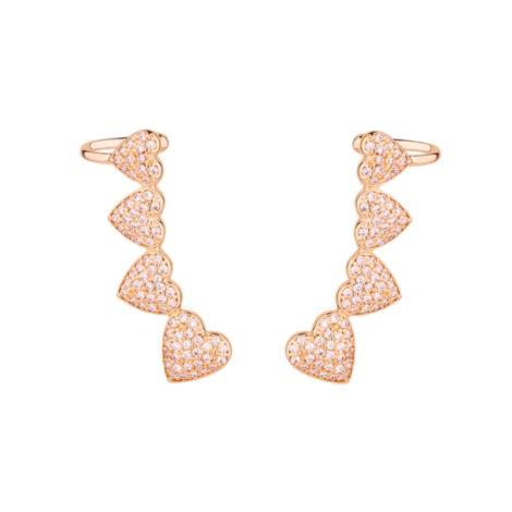 1690382 brinco coracao 4 coracoes cravejados com zirconias brancas ebrilhantes joia folheada antialergica marca sabrina joias loja brilho folheados