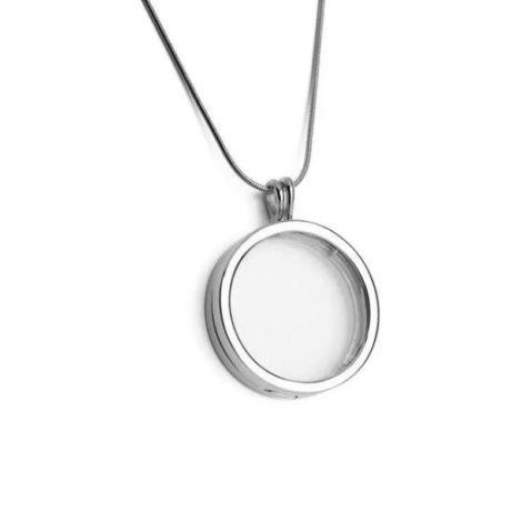 1800282 colar com pingente capsula de vidro folheada ródio branco marca sabrina joias loja brilho folheados