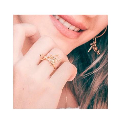 1911025 anel com pingentes amor sem fim cupido chave coracao love joia antialergica sabrina loja brilho folheados modelo usando