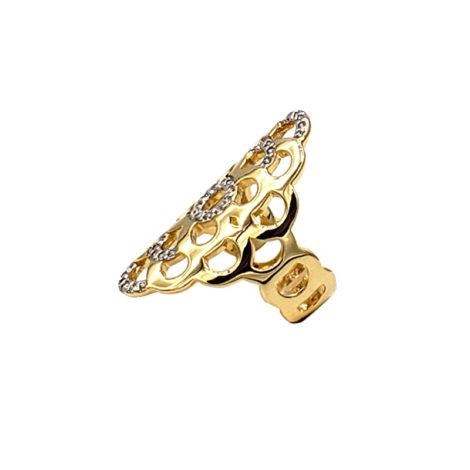 AB1591 maxi anel bolhas com zirconia folheado a ouro 18k marca bruna semijoias loja brilho folheados 1