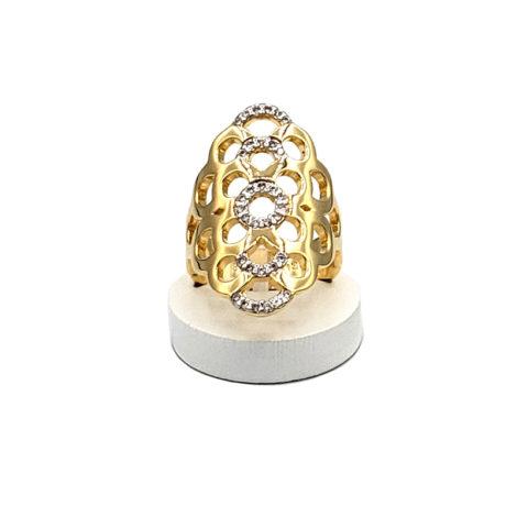 AB1591 maxi anel bolhas com zirconia folheado a ouro 18k marca bruna semijoias loja brilho folheados 3