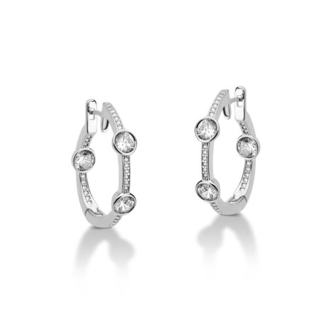R1690249 brinco argola media cravejado com zirconias folheado a rodio marca sabrina joias loja brilho folheados