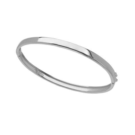 R1700410 bracelete liso bipartido joia folheada a rodio marca sabrina joias loja brilho folheados