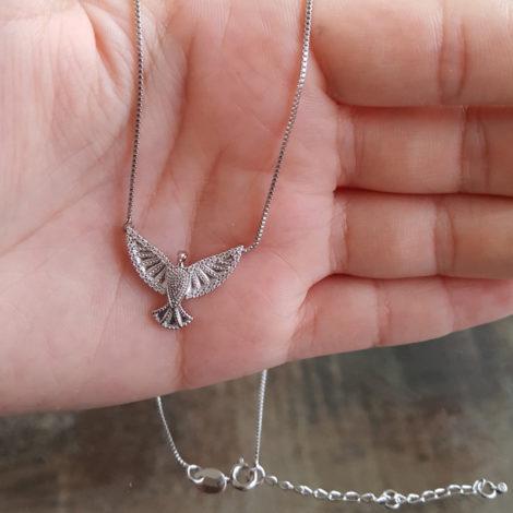 R1900385 colar com pingente espirito santo cravejado prateado marca sabrina joias loja revendedora brilho folheados 3