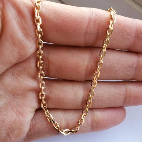150A70 corrente masculina cartier folheada a ouro 18k marca sabrina joias loja revendedora brilho folheados 1