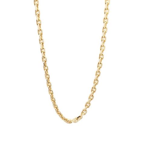 150A70 corrente masculina cartier folheada a ouro 18k marca sabrina joias loja revendedora brilho folheados