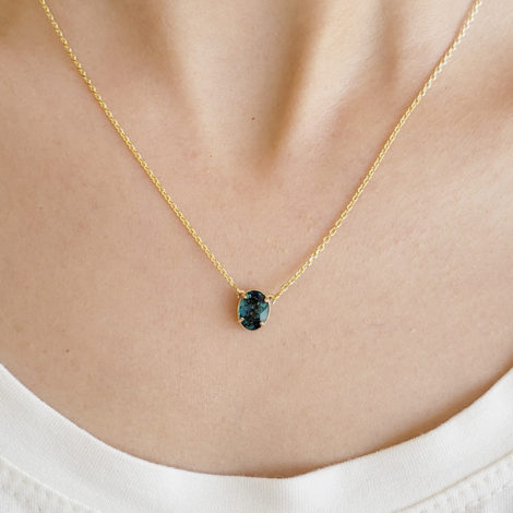 1900360 gargantilha 2 faces zirconias brilhantes cristal azul london folheado ouro marca sabrina joias loja brilho