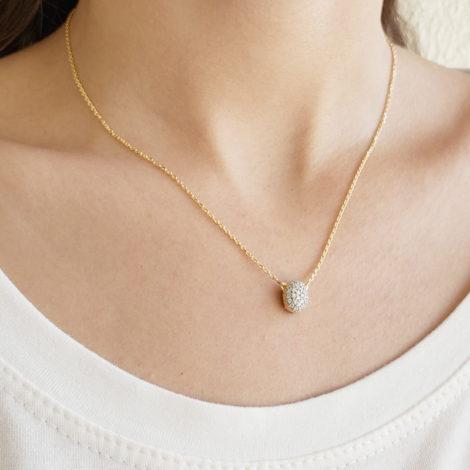 1900360 gargantilha 2 faces zirconias brilhantes cristal folheado ouro marca sabrina joias loja revendedora brilho