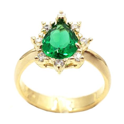 1910414 anel de formatura verde com zirconias brancas joia folheada ouro antialergica com caixa capelo loja brilho folheados 6