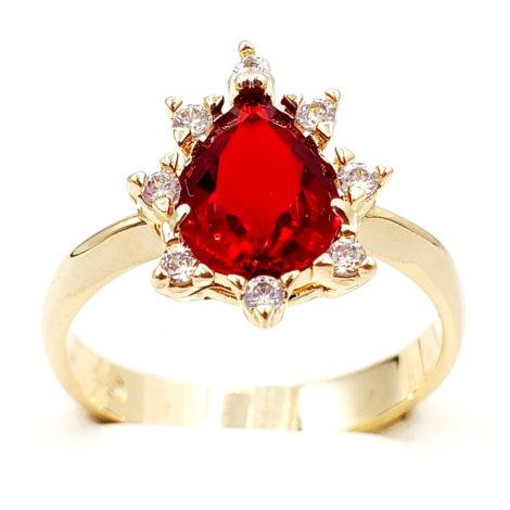 1910414 anel de formatura vermelho com zirconias brancas joia folheada ouro antialergica com caixa capelo loja brilho folheados 5