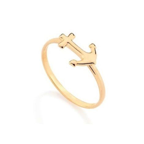 511934 Skinny ring ancora joia folheada ouro 18k marca rommanel loja rommanel