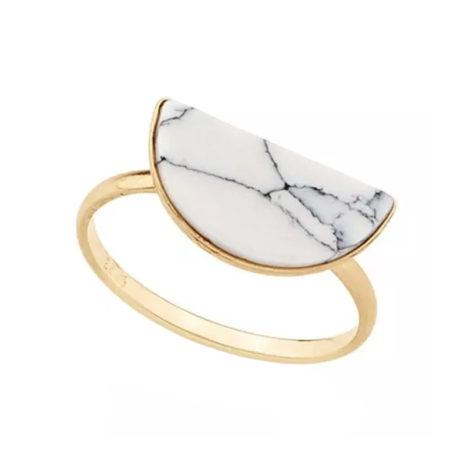 512376 anel aro fino composto por pedra meio circulo branca sintética rajada detalhe preto marca rommanel loja brilho folheados