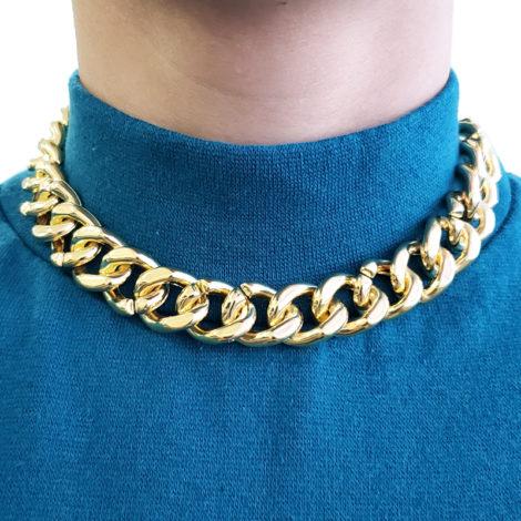 chocker elos inspirado na personagem maria da paz de juliana paes em a dona do pedaço joia folheada ouro