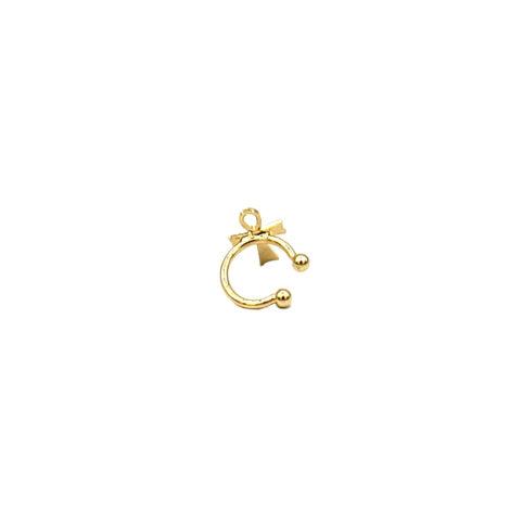 piercing de pressao com cruz joia folheada a ouro dourado loja brilho folheados 1