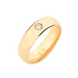 511488 alianca feminina larga lisa e polida com uma pedra de zirconia joia folheada ouro rommanel loja revendedora brilho folheados