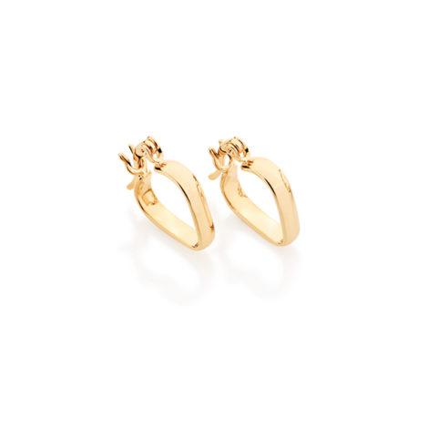 520883 brinco argola no formato coracao joia folheada ouro rommanel loja revendedora brilho folheados
