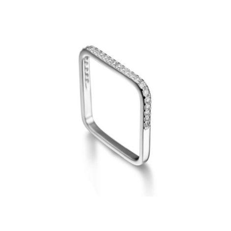 R1910366 anel quadrado folheado rodio zirconias brilhates prateado marca sabrina joias loja revendedora brilho folheados