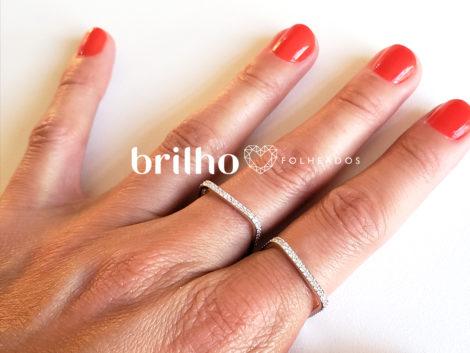 R1910366 anel quadrado prateado marca sabrina joias loja revendedora brilho folheados foto modelo ML 1