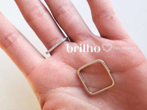 R1910366 anel quadrado prateado marca sabrina joias loja revendedora brilho folheados foto modelo ML 2