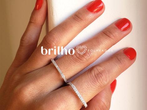 R1910366 anel quadrado prateado marca sabrina joias loja revendedora brilho folheados foto modelo ML
