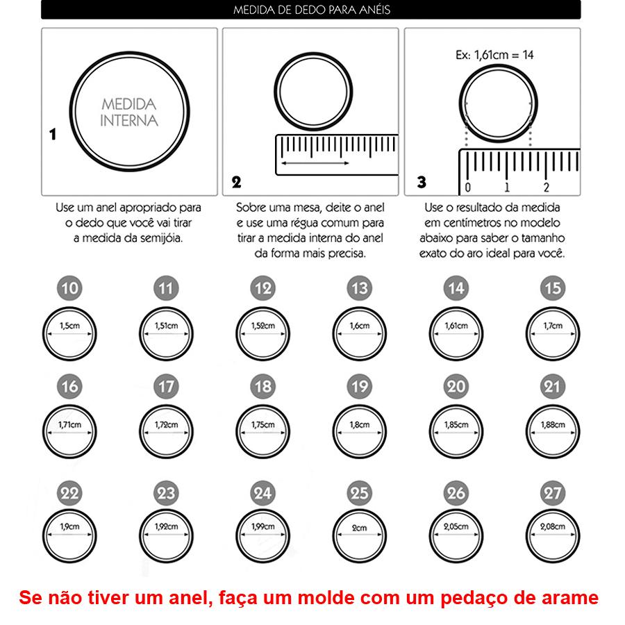 tabela de medidas anel