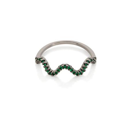 410036 anel aro fino ondas zirconias verde simone e simaria rommanel loja revendedora brilho folheados 5