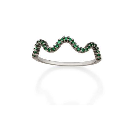 410036 anel aro fino ondas zirconias verde simone e simaria rommanel loja revendedora brilho folheados 7