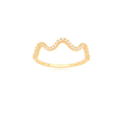 512814 anel ondas com 31 zirconias brancas joia simone e simaria folheada ouro rommanel loja revendedora brilho folheados