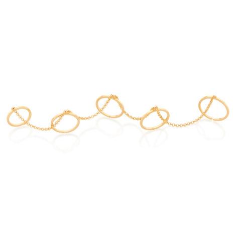 512826 aneis ajustaveis para cinco dedos interligados com corrente simone e simaria rommanel loja revendedora brilho folheados