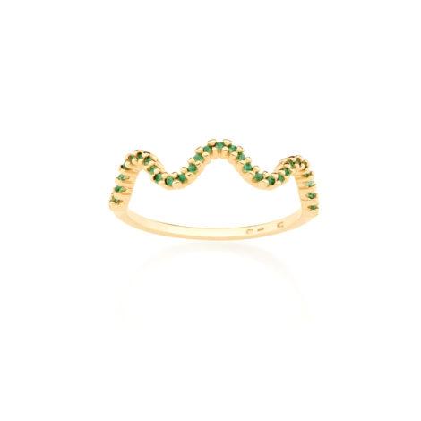 512833 anel delicado aro fino zirconia verde simone simaria rommanel loja revendedora brilho folheados
