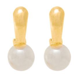 522093 brinco perola pequena base metal joia rommanel dourada loja revendedora brilho folheados