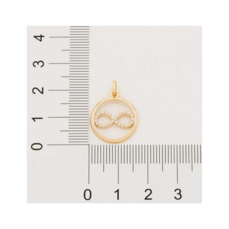 542222 pingente redondo simbolo infinito ao centro cravejado zirconia simone simaria rommanel loja revendedora brilho folheados2