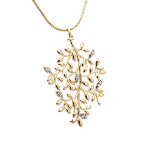 colar arvore da vida cordao pingente folhjas arvore da vida joia folheada a ouro sabrina joias loja revendedora brilho folheados
