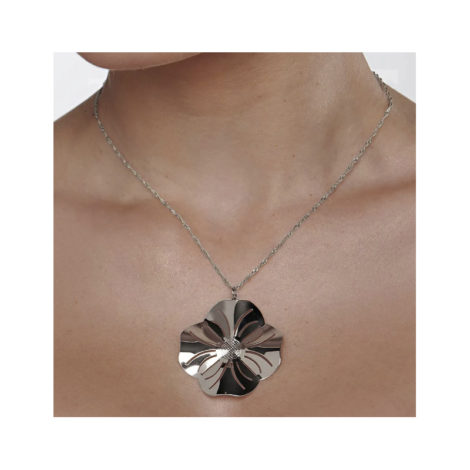140819 pingente flor estilizada colecao curacao blue ana hickmann marca rommanel loja revendedora brilho folheados foto modelo 1