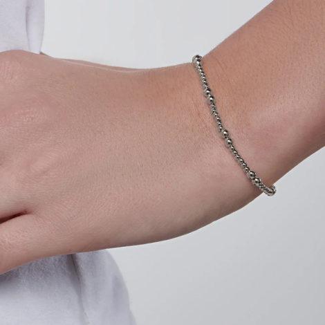 150332 pulseira bolinhas folheado a rodio colecao curacao blue marca rommanel loja revendedora brilho folheados foto modelo 1