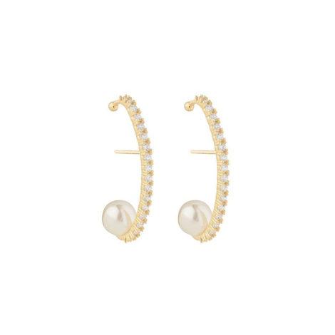 1690453 hearhook de perola com zirconias brancas brilhantes joia folheada ouro 18k marca sabrinha joias loja brilho folheados