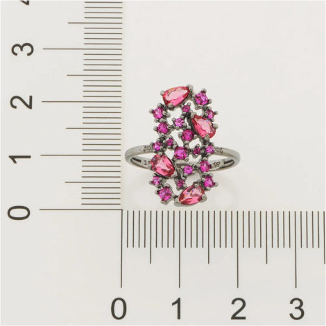 410037 anel rodio negro cristais e zirconias rosa colecao curacao blue marca rommanel loja revendedora brilho folheados 6