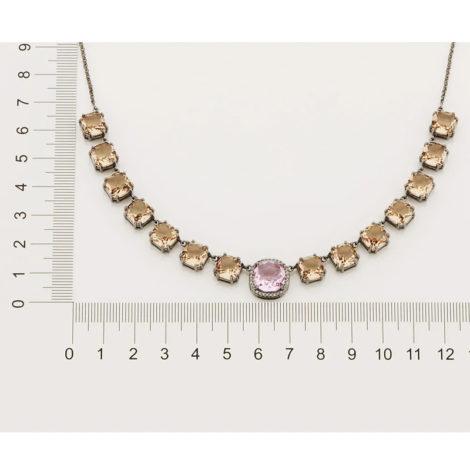 430043 gargantilha elos portugueses cristais rosa e rose curacao blue marca rommanel loja revendedora brilho folheados 5