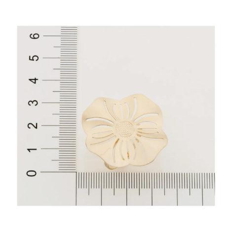 512785 anel aro liso parte superior flor estilizada detalhes vazadsos curacao blue marca rommanel loja revendedora brilho folheados 3