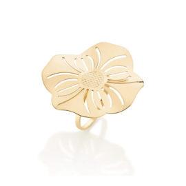 512785 anel aro liso parte superior flor estilizada detalhes vazadsos curacao blue marca rommanel loja revendedora brilho folheados 5