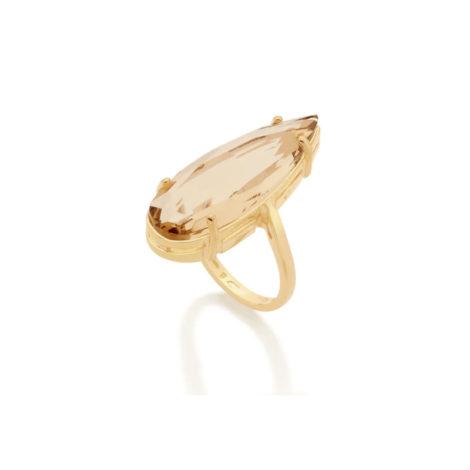 512831 maxi anel cristal gota bege colecao curacao blue ana hickmann marca rommanel loja revendedora brilho folheados