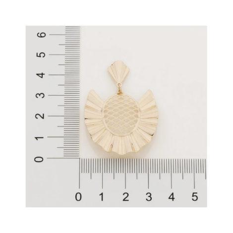 526383 brinco estilizado no formato de abacaxi colecao curacao ana hickmann marca rommanel loja revendedora brilho folheados 5