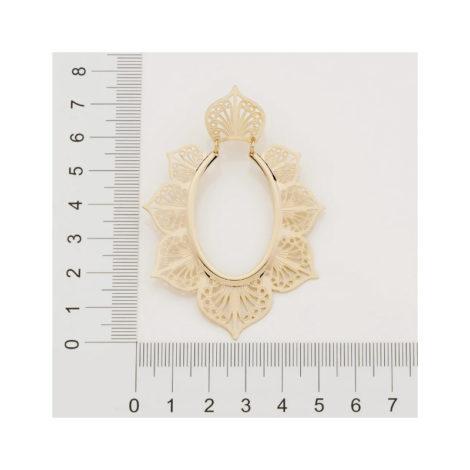 526420 brinco formato flor com parte oval vazada colecao curacao ana hickmann marca rommanel loja revendedora brilho folheados 5
