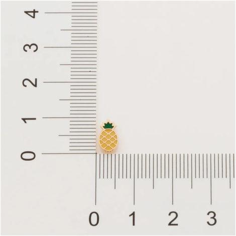 526421 brinco dourado pequeno formato abacaxi aplicacao de resina curacao blue marca rommanel loja revendedora brilho folheados 6