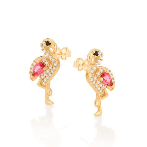 526425 brinco flamingo cravejado com zirconias curacao blue marca rommanel loja revendedora brilho folheados 4