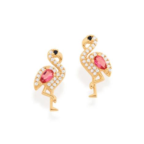 526425 brinco flamingo cravejado com zirconias curacao blue marca rommanel loja revendedora brilho folheados 5
