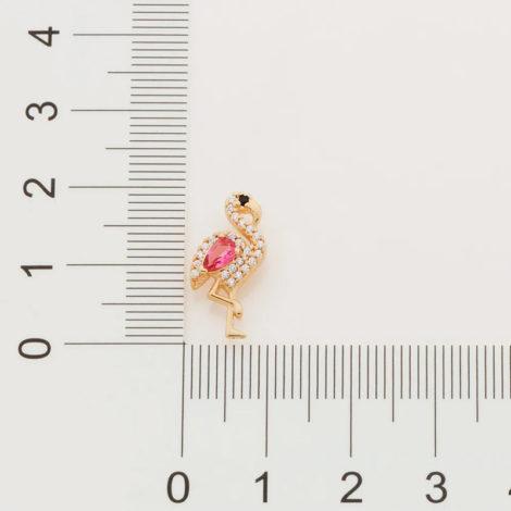 526425 brinco flamingo cravejado com zirconias curacao blue marca rommanel loja revendedora brilho folheados 6