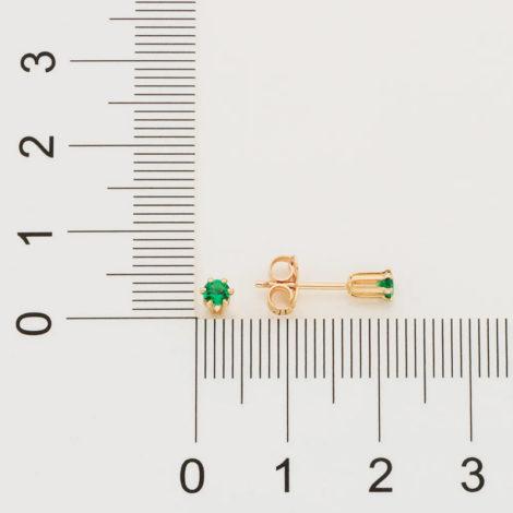 526434 brinco zirconia solitaria ponto de luz verde colecao curacao blue marca rommanel loja revendedora brilho folheados 6